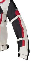 4Riders - 4Riders Breeze Yazlık Korumalı Motosiklet Montu (Gri/Kırmızı) (Thumbnail - )