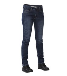 4Riders - 4Riders Texas Korumalı Bayan Motosiklet Kot Pantolonu (Eskitme Mavi) (Thumbnail - )