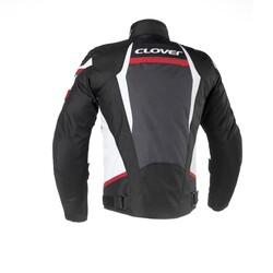 Clover - Clover AirBlade-3 Kadın Korumalı Motosiklet Ceketi (Beyaz/Kırmızı) (Thumbnail - )
