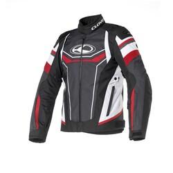 Clover - Clover AirBlade-3 Korumalı Motosiklet Ceketi (Beyaz/Kırmızı) (Thumbnail - )