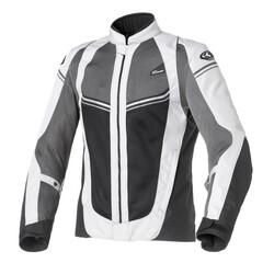 Clover - Clover AIRJET-4 Kadın File Korumalı Motosiklet Ceketi (Gri) (Thumbnail - )
