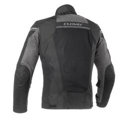 Clover - Clover AIRJET-4 Kadın File Korumalı Motosiklet Ceketi (Siyah) (Thumbnail - )