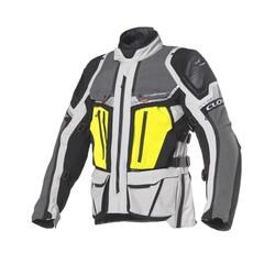 Clover - Clover Crossover-4 WP Korumalı Motosiklet Ceketi (Siyah/Gri) (Thumbnail - )