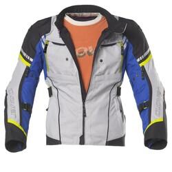 Clover - Clover HyperBlade WP Korumalı Motosiklet Ceketi (Mavi/Gri) (Thumbnail - )