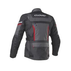 Clover - Clover Savana-3 WP Kadın Korumalı Motosiklet Ceketi (Koyu Gri) (Thumbnail - )