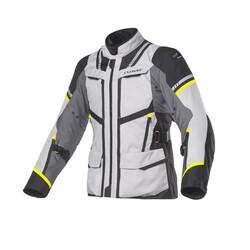 Clover - Clover Savana-3 WP Korumalı Motosiklet Ceketi (Gri / Sarı) (Thumbnail - )