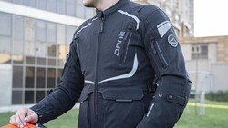 Dane - Dane Bremdal XPR-TEX Korumalı motosikletçi Montu (Siyah/Gri/Sarı) (Thumbnail - )