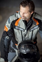 Difi - Difi Desert Ride Korumalı Motosikletçi Montu (Gri/Turuncu) (Thumbnail - )