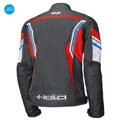 Held - Held Baxley Korumalı Motosiklet Montu (Siyah/Kırmızı/Mavi) (Thumbnail - )