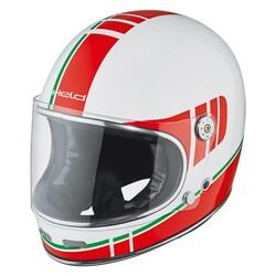 Held - Held Root Retro Kapalı Motosiklet Kaskı (Kırmızı/Beyaz) (Thumbnail - )