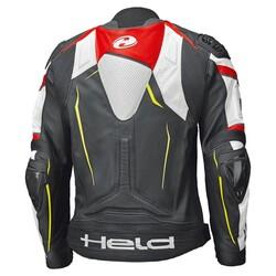 Held - Held Safer II Deri Korumalı Motosiklet Montu (Siyah/Kırmızı) (Thumbnail - )