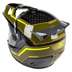 Klim - Klim Krios Pro Karbon Adv Motosiklet Kaskı (Yeşil/Sarı) (Thumbnail - )