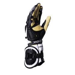 Knox - Knox Handroid (MK4) Korumalı Deri Motosiklet Eldiveni (Siyah/Beyaz) (Thumbnail - )