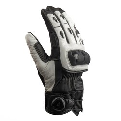 Knox - Knox Orsa MKII Deri Korumalı Motosiklet Eldiveni (Siyah / Beyaz) (Thumbnail - )