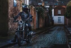 Knox - Knox Urbane Pro Korumalı File Motosiklet Montu (Siyah/Mavi) (Thumbnail - )