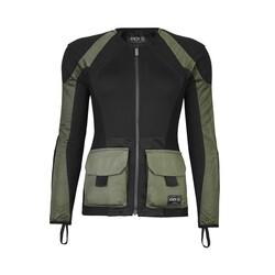 Knox - Knox Urbane Pro Utility File Korumalı Kadın Motosiklet Montu (Yeşil) (Thumbnail - )
