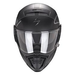 Scorpion - Scoripon EXO HX1 Taktic Retro Motosiklet Kaskı (Siyah Gümüş) (Thumbnail - )