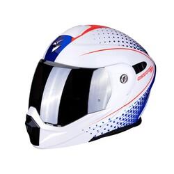 Scorpion - Scorpion ADX 1 Dual Horizon Adv Motosiklet Kaskı (Beyaz/Kırmızı/Mavi) (Thumbnail - )
