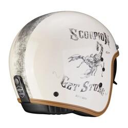 Scorpion - Scorpion Belfast Pique Açık Motosiklet Kaskı (Krem Siyah) (Thumbnail - )