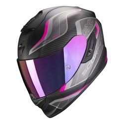 Scorpion - Scorpion Exo 1400 Air Attune Kapalı Motosiklet Kaskı (Mat Siyah/Pembe) (Thumbnail - )