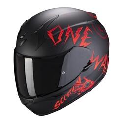 Scorpion - Scorpion Exo 390 OneWay Motosiklet Kaskı (Siyah Kırmızı) (Thumbnail - )