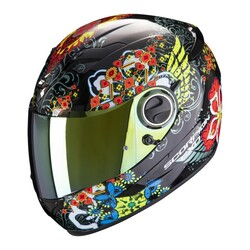 Scorpion - Scorpion Exo 490 Divina Kapalı Motosiklet Kaskı (Siyah/Kırmızı/Mavi) (Thumbnail - )