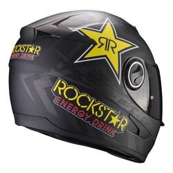 Scorpion - Scorpion Exo 490 Rockstar Kapalı Motosiklet Kaskı (Siyah/Sarı) (Thumbnail - )