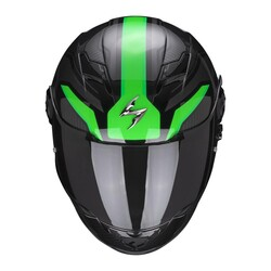 Scorpion - Scorpion Exo 490 Supernova Kapalı Motosiklet Kaskı (Siyah Yeşil) (Thumbnail - )