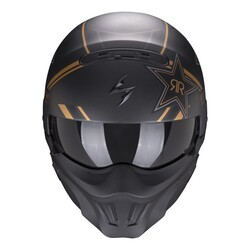 Scorpion - Scorpion EXO Combat EVO RockStar Moduler Motosiklet Kaskı (Altın) (Thumbnail - )