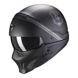 Scorpion - Scorpion EXO Combat EVO Unborn Moduler Motosiklet Kaskı (Mat Siyah Gümüş) (Thumbnail - )
