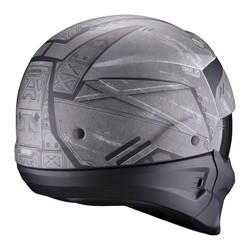 Scorpion - Scorpion EXO Combat EVO Incursion Moduler Motosiklet Kaskı (Gümüş Siyah) (Thumbnail - )