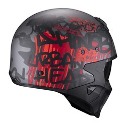 Scorpion - Scorpion EXO Covert-X Wall Moduler Motosiklet Kaskı (Kırmızı / Gri) (Thumbnail - )