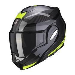 Scorpion - Scorpion EXO TECH Trap Çene Açılabilir Motosiklet Kaskı (Siyah/Sarı) (Thumbnail - )