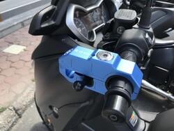 Securage - Securage Pro CNC Aluminyum Alarmlı Motosiklet Manet Kilidi (Thumbnail - )